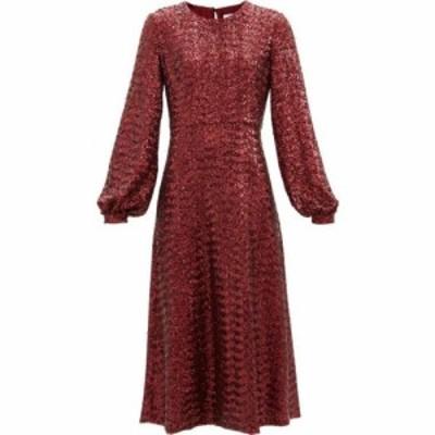 ノア ド ボルゴ Borgo De Nor レディース ワンピース ミドル丈 ワンピース・ドレス Zelda sequinned midi dress Burgundy