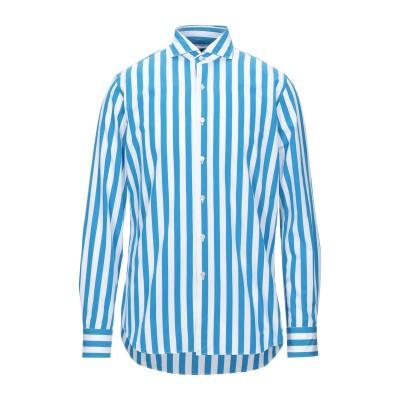 XACUS シャツ ブルー 38 コットン 100% シャツ