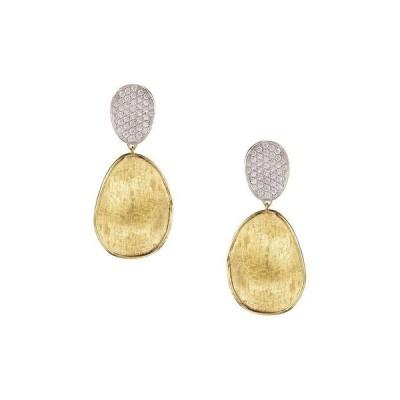 マルコ ビチェゴ レディース ピアス・イヤリング アクセサリー Diamond Lunaria Two Drop Small Earrings in 18K Gold