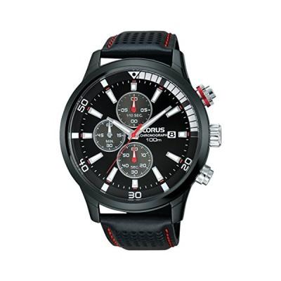 Lorus Men's Chronograph Quartz Watch with Leather Strap RM367CX9 並行輸入品