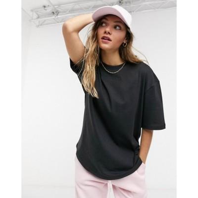 アディダス adidas Originals レディース Tシャツ トップス 'Cosy Comfort' oversized t-shirt in black ブラック