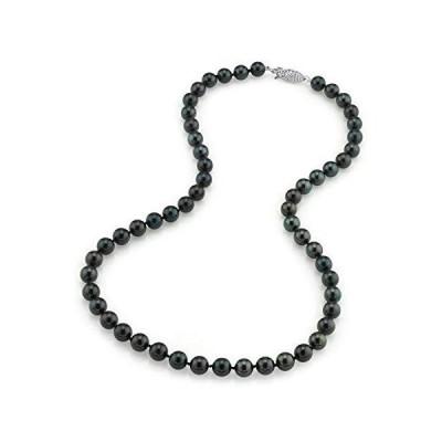 The Pearl Source レディーズ アコヤ養殖真珠のネックレス 白金 7.0-7.5mm【並行輸入品】