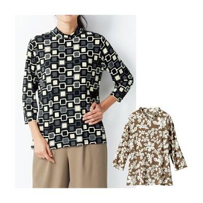 【バーゲン】ハイネックプリントTシャツ M L|2371-258993