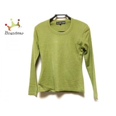 49アベニュージュンコシマダ 長袖セーター サイズ9 M レディース ライトグリーン 肩パッド   スペシャル特価 20210108