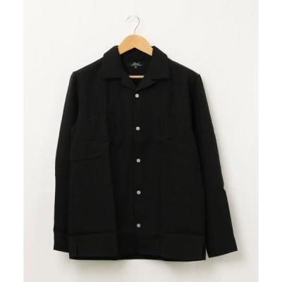 シャツ ブラウス 【W】【it】【KO】Pトロオープンカラー長袖シャツ
