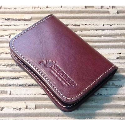 STUNNER ステアハイドレザーコイン&カードケース レッド 財布 小銭入れ バスケース 送料無料