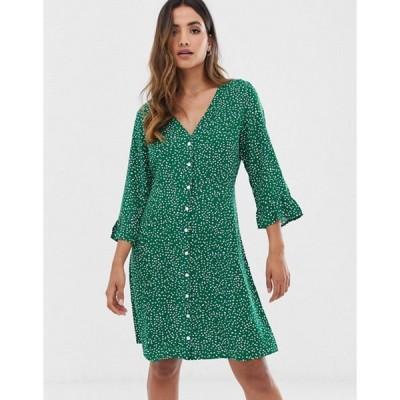 ワイエーエス レディース ワンピース トップス Y.A.S floral button up dress