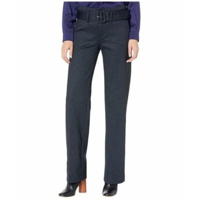 リバプール カジュアルパンツ ボトムス レディース Taylor Trousers Belted High-Rise in Heathered Chevron Knit Navy/Grey