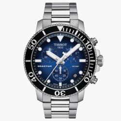 TISSOT天梭T1204171104101/Seastar海洋之星計時潛水錶/45.5mm