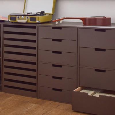家具 収納 本棚 ラック シェルフ CDラック DVDラック 幅30cm(PortaII/ポルタ 多目的収納シリーズ 6段チェスト) H89017