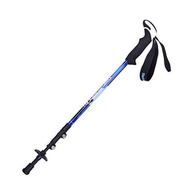 AEDWQ Carbon Fiber Trekking Pole, Foldable, Lightweight, Shock Absorbing, Telescopic and Running Stick, with Natural Cork Handle, Quick Lock, Suitable