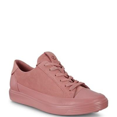 エコー レディース スニーカー シューズ Soft 7 Mono Leather Sneakers Damask Rose