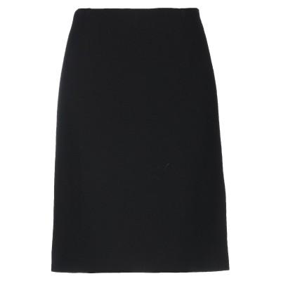 EDWARD ACHOUR ひざ丈スカート ブラック 40 ウール 100% ひざ丈スカート
