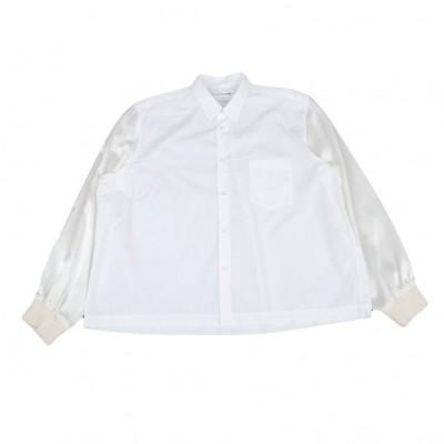 コムデギャルソン シャツCOMME des GARCONS SHIRT ブルゾン袖切替デザインシャツ 白L 【メンズ】