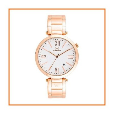 AIMANT Women's Bora Rose Gold with Rose Gold Stainless Steel Bracelet Watch LBO-120SRG-7RG