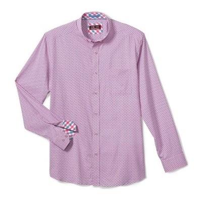 ジョンストンアンドマーフィー レディース シャツ トップス XC4 Stripe Diamond Print Stretch Long-Sleeve Woven Shirt