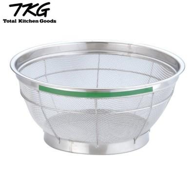 TKG NEWマンモス カラー 浅型ざる 25cm グリーン AZL4716 7-0249-0416 遠藤商事