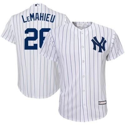 キッズ スポーツリーグ メジャーリーグ DJ LeMahieu New York Yankees Youth Home Replica Player Jersey - White/Navy ジャージ