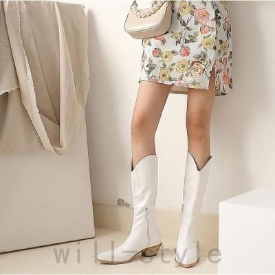 ウエスタンブーツ韓国オルチャンストリートショートジョッキー原宿系合皮PUレザーきれいめ靴シューズ