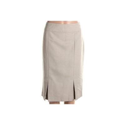 レスーツ スカート ボトムス Le Suit 6826 レディース Taupe Knee-Length Wear To Work Pleated Pencil スカート 12 BHFO