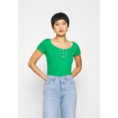 ナフ ナフ Tシャツ レディース トップス OFLIPPO - Print T-shirt - vert rio
