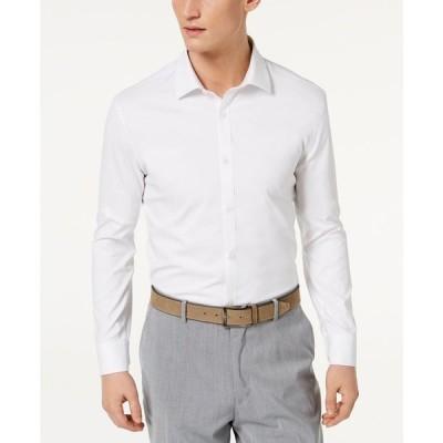 ライアン シークレスト Ryan Seacrest Distinction メンズ シャツ Ultimate Active Slim-Fit Non-Iron Performance Stretch Solid White Dress Shirt White