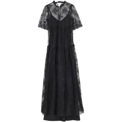 ブルーガール ブルマリン BLUGIRL BLUMARINE ロングワンピース&ドレス ブラック 40 ナイロン 100% ロングワンピース&ドレス