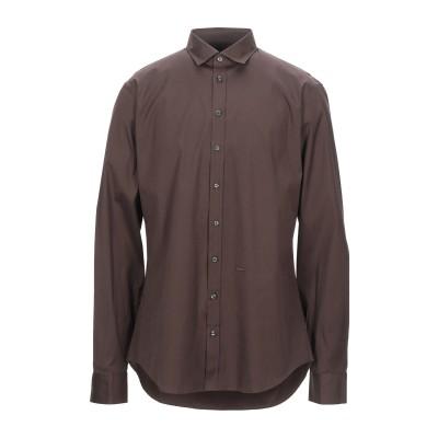 ディースクエアード DSQUARED2 シャツ ダークブラウン 48 コットン 97% / ポリウレタン 3% シャツ