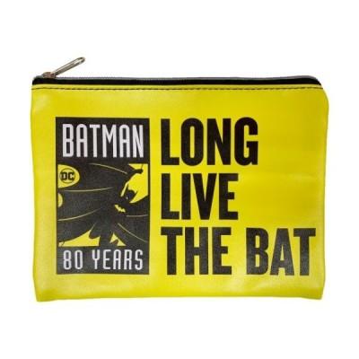 バットマン 平 ポーチ フラットポーチ BATMAN 80 YEARS DCコミック インロック コレクション雑貨