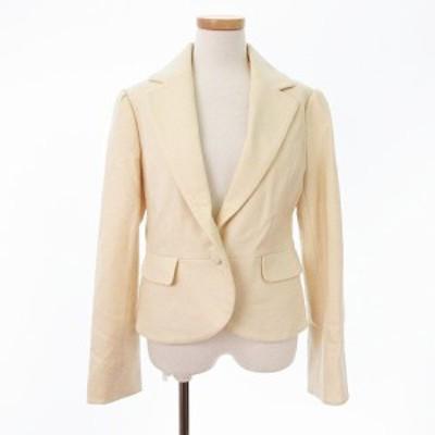 【中古】アーモワールカプリス armoire caprice ジャケット テーラード ウール カシミヤ 40 白 ホワイト aan0204 レディース
