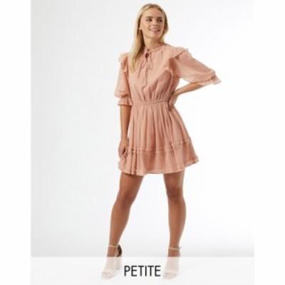 ミス セルフリッジ Miss Selfridge Petite レディース ワンピース ミニ丈 ワンピース・ドレス dobby mini dress in pink ピンク