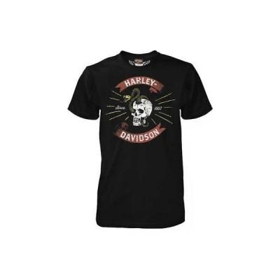 Tシャツ ハーレーダビッドソン Harley-Davidson Men's Skull Basher Short Sleeve T-Shirt, Black 5503-HC87 (4XL)
