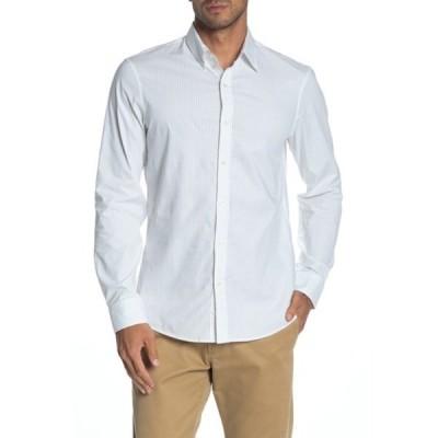マイケルコース メンズ シャツ トップス Striped Trim Fit Shirt ICE GREY
