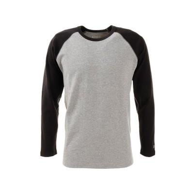 クリフメイヤー(KRIFF MAYER) Tシャツ メンズ 長袖 スーパーヘビーリップル 1947202-1404:GRAY/BLK (メンズ)