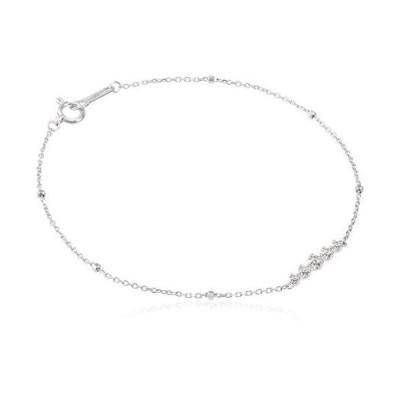 4℃(ヨンドシー) ダイヤモンドK18ホワイトゴールド(WG)ブレスレット 111631133201