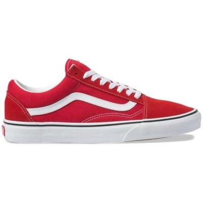 バンズ レディース スニーカー シューズ Vans Old Skool Shoes - Women's Racing Red/True White