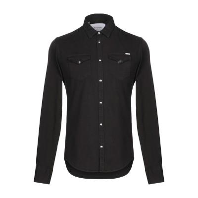 アリーニ AGLINI シャツ ブラック 40 コットン 98% / ポリウレタン 2% シャツ
