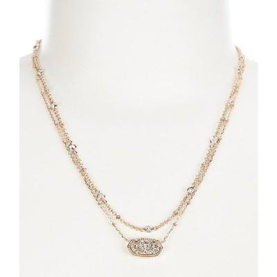 ケンドラスコット レディース ネックレス・チョーカー アクセサリー Elisa Rose Gold Multi Strand Necklace