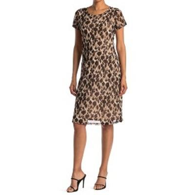 ウエスト ケイ レディース ワンピース トップス Knit Mesh Leopard Print Dress BRWN LEPRD