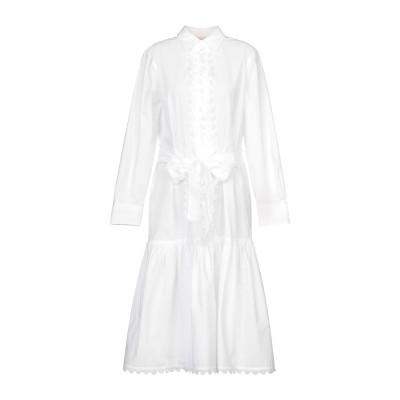 トリー バーチ TORY BURCH 7分丈ワンピース・ドレス ホワイト 2 コットン 100% 7分丈ワンピース・ドレス
