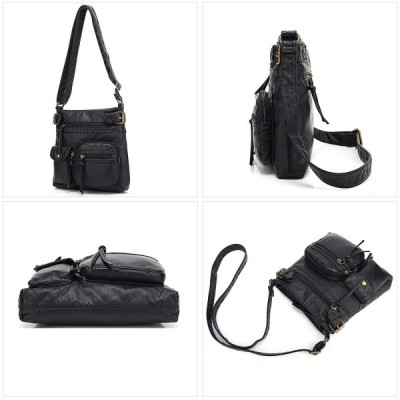 Scarleton Accent トップ ベルト クロスボディー レディース バッグ Top Belt Crossbody Bag (Bla