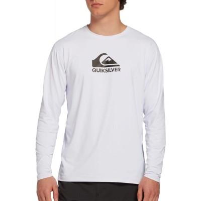 クイックシルバー Quiksilver メンズ ラッシュガード 大きいサイズ Solid Streak Long Sleeve Rash Guard (Regular and Big & Tall) White