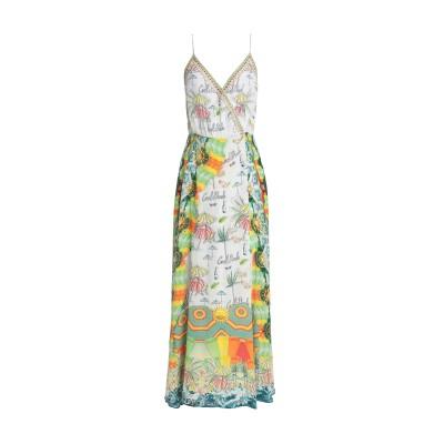 CAMILLA ロングワンピース&ドレス ホワイト XS シルク 100% ロングワンピース&ドレス