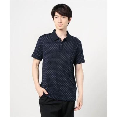 ポロシャツ 【BANANA REPUBLIC FACTORY STORE】スリムフィット マイクロプリント ドレスポロシャツ