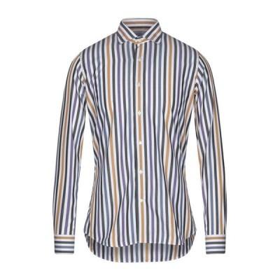 CAMICERIA PALAZZO MALAPIETRA ストライプ柄シャツ  メンズファッション  トップス  シャツ、カジュアルシャツ  長袖 ホワイト