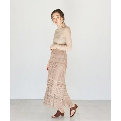 スカート クロシェニットロングスカート