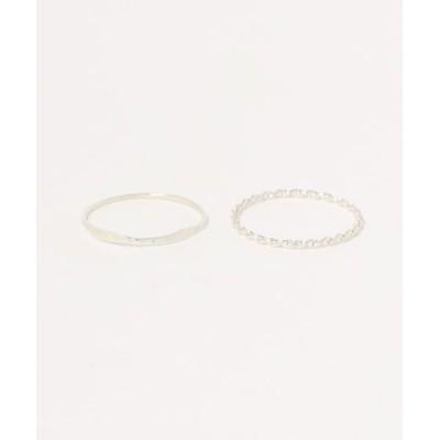 指輪 シルバーリング2本セット #11-12