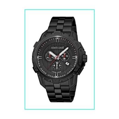 【新品】ROBERTO CAVALLI Men's RC-83 Swiss Quartz Watch with Stainless Steel Strap, Black, 22 (Model: RV1G084M0086)(並行輸入品)