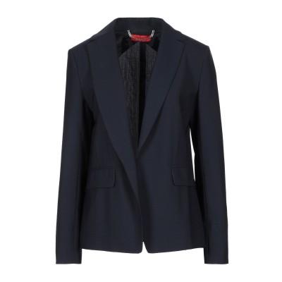 MAX & CO. テーラードジャケット ダークブルー 40 バージンウール 98% / ポリウレタン 2% テーラードジャケット