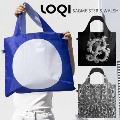 LOQI ローキー Sagmeister & Walsh エコバッグ コラボ 折りたたみ コンパクト